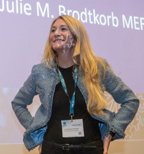 MEF-sjef Julie Brodtkorp